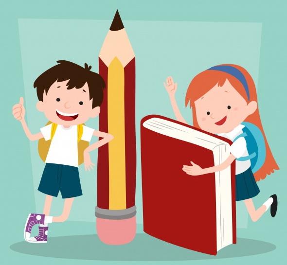 contexte-drole-des-enfants-avec-fournitures-scolaires_23-2147665765