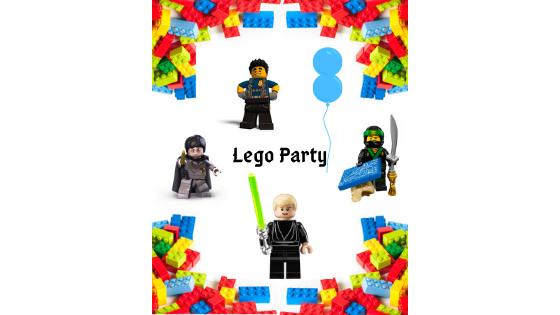 Anniversaire Lego : invitation, jeux et goûter !